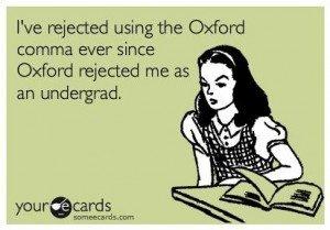 oxford comma dlaczego nie używać